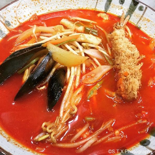 辣味海鲜拉面