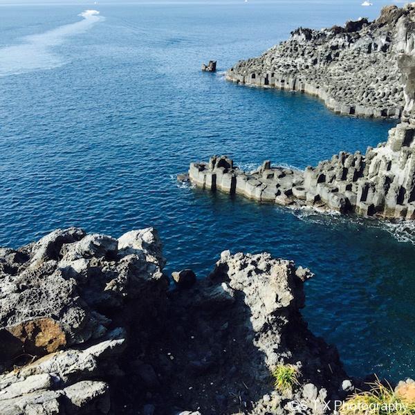 济州岛柱状节理带