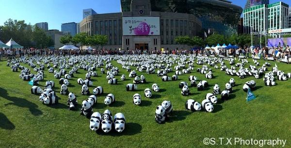 法国艺术家格兰金1600熊猫
