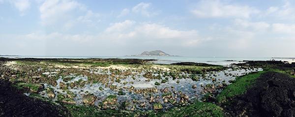 济州岛挟才里海边