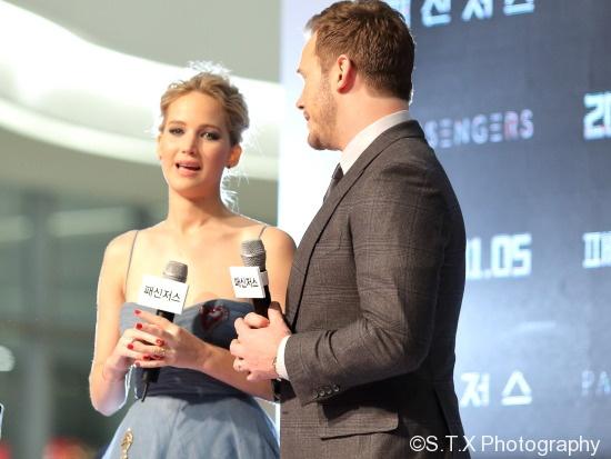 克里斯·帕拉特(Chris Pratt)、詹妮弗·劳伦斯(Jennifer Lawrence)