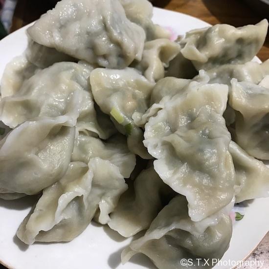 虾仁荠菜水饺