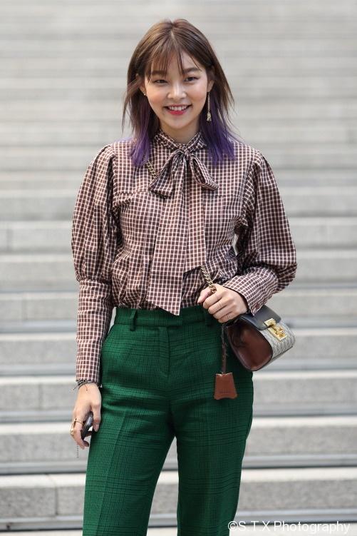 2017秋季韩国时尚街拍、宋海娜