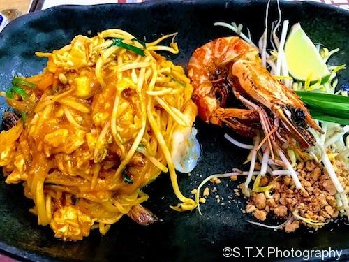 大虾炒金边粉