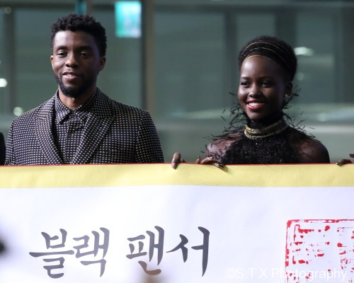 Lupita Nyong'o、Chadwick Boseman、查德维克·博斯曼、露皮塔·尼永奥