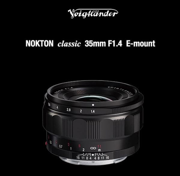 Nokton Classic 35mm f/1.4 FE