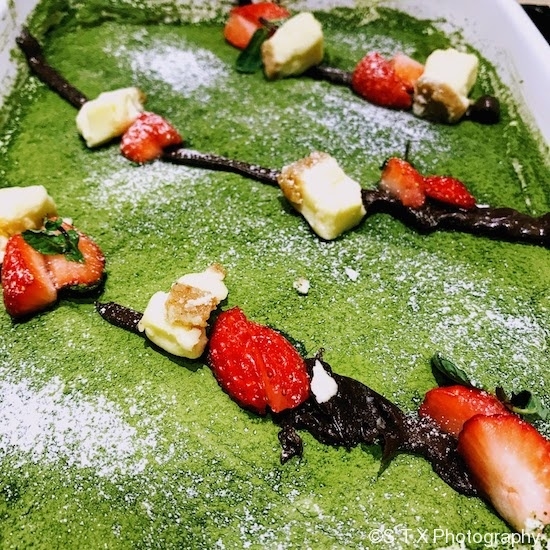 草莓绿茶甜品