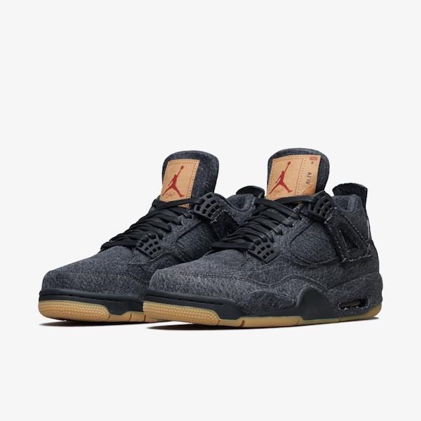 Levi's x Air Jordan 4 Black