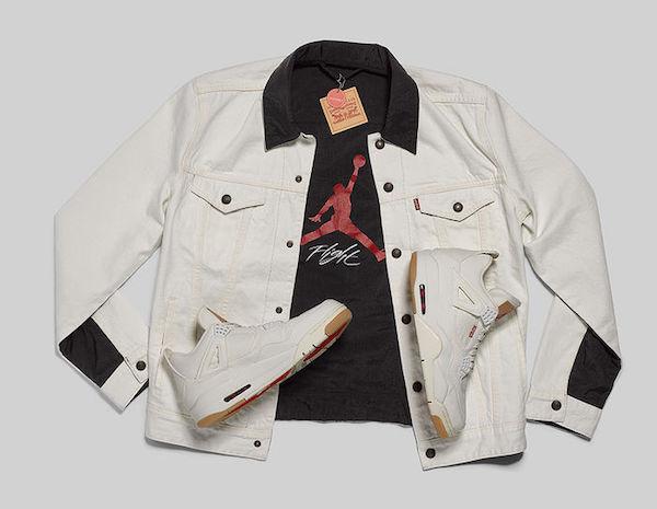 Levi's x Air Jordan 4 White