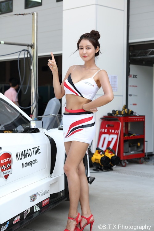 刘多渊、韩国美女车模