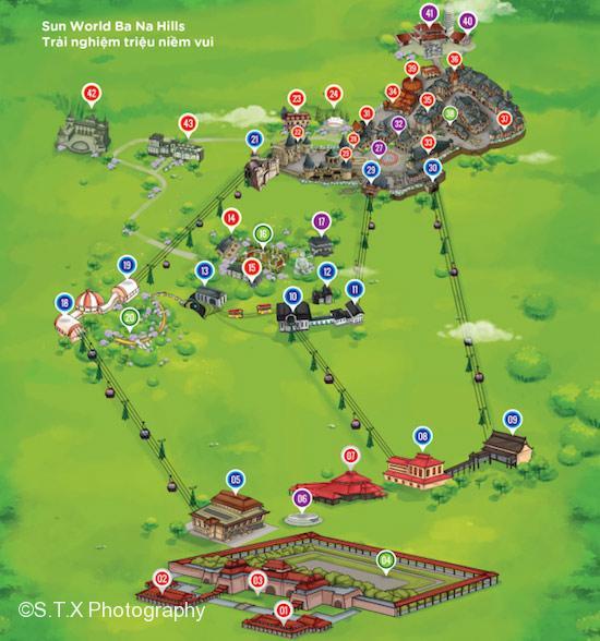 巴拿山景点路线图