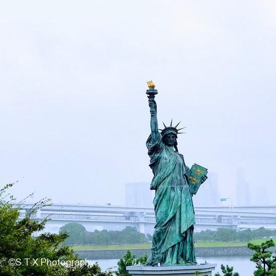 台场海滨公园、自由女神像、飘在思密达、东京攻略